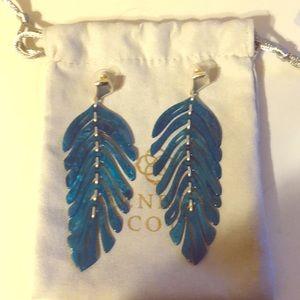Kendra Scott Lotus Earring (blue)